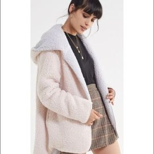 Urban outfitters reversible teddy coat